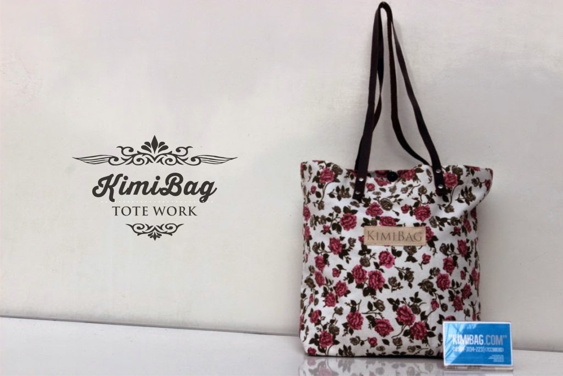 Floral Patterned Totebag