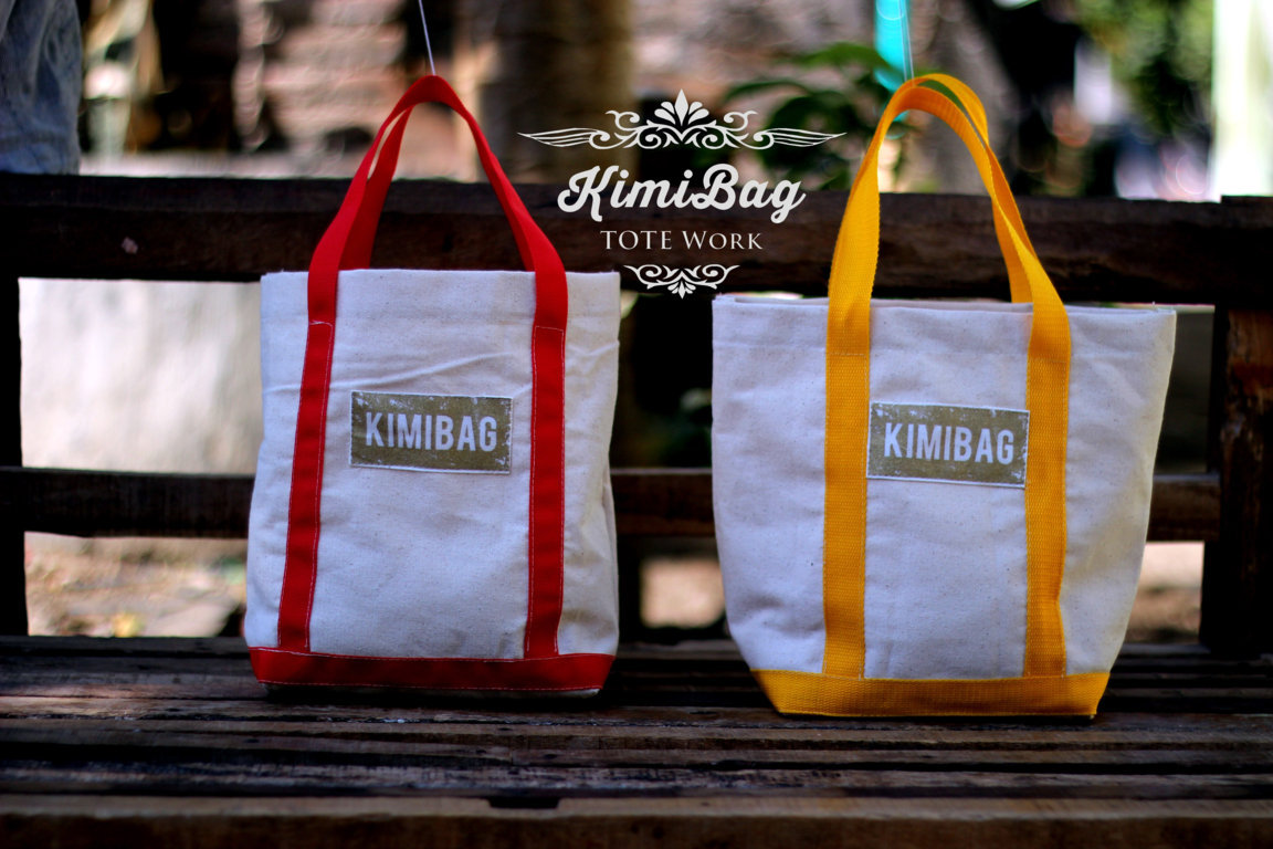 KimiBag Stripped Canvas Tote
