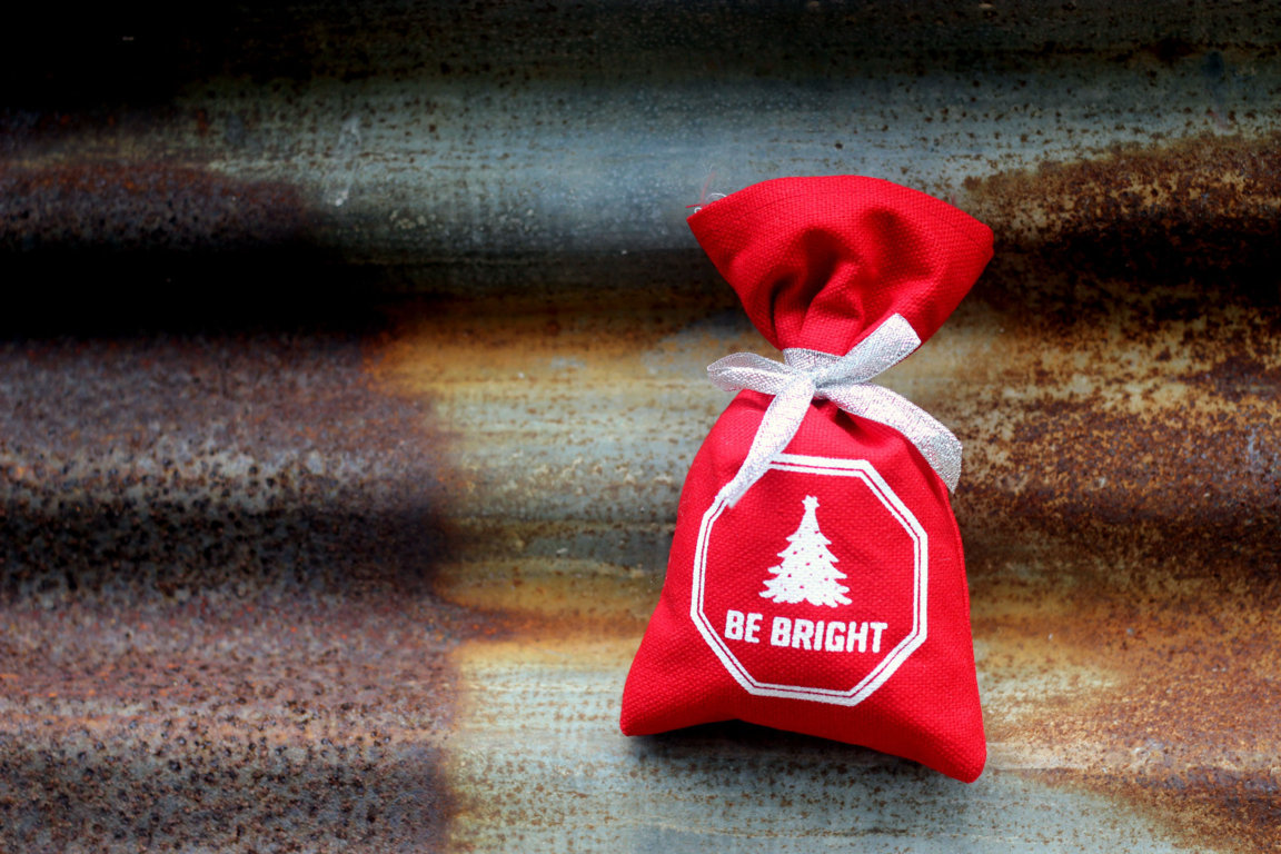 KIMIBAG red custom Christmas pouch