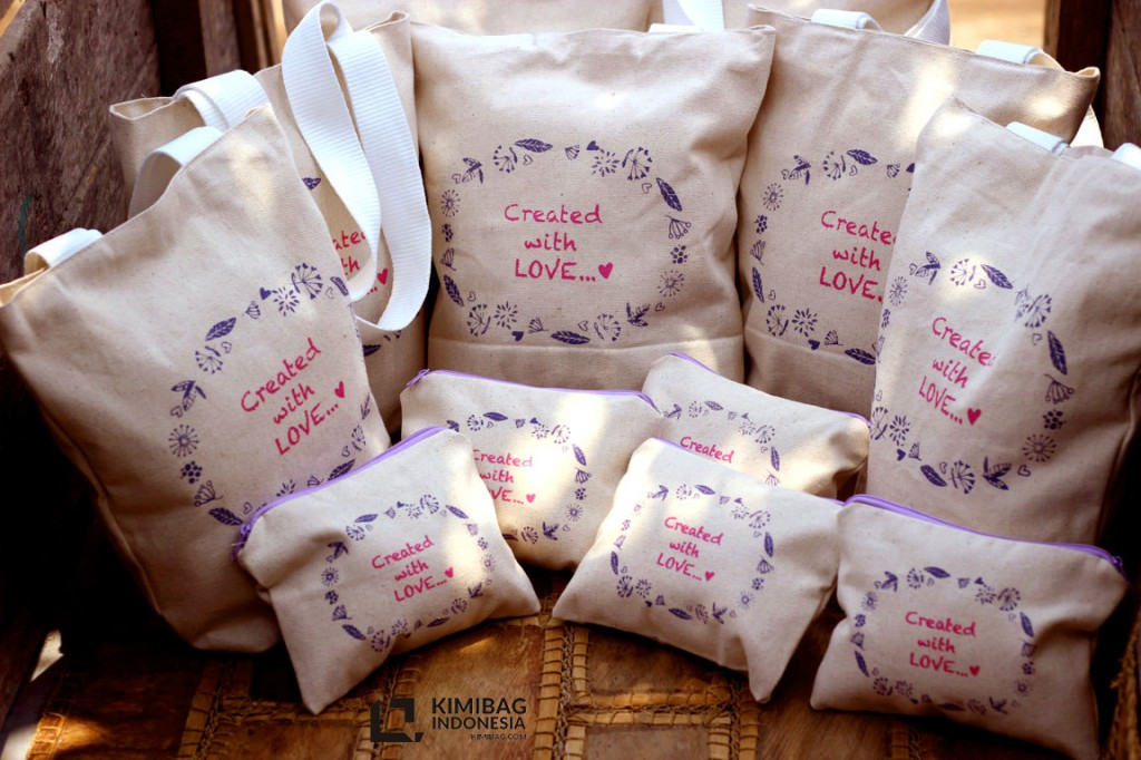 KIMIBAG totebag and wallet couple - created with love documentation
