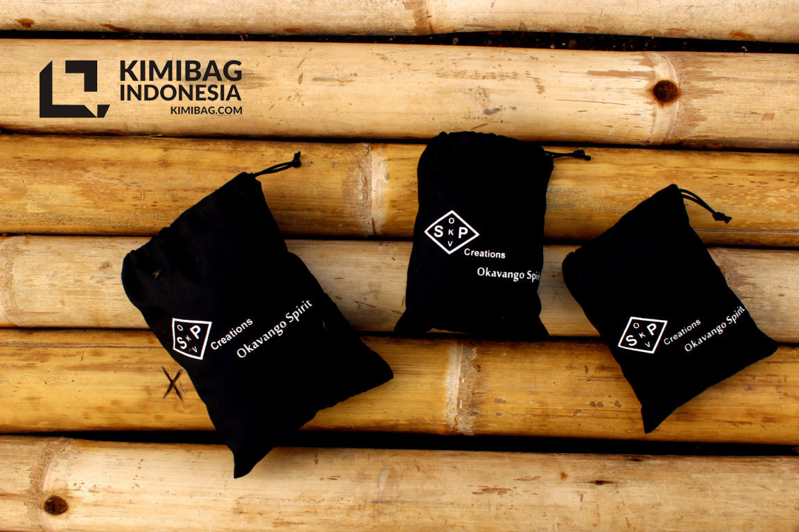 KIMIBAG - okavango black cotton pouch