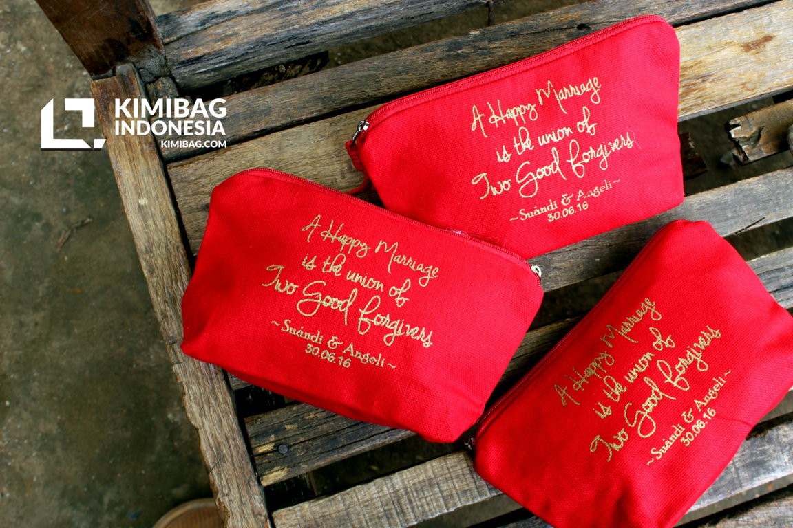 KIMIBAG - Red Wallet Wedding Favor with Quotation design