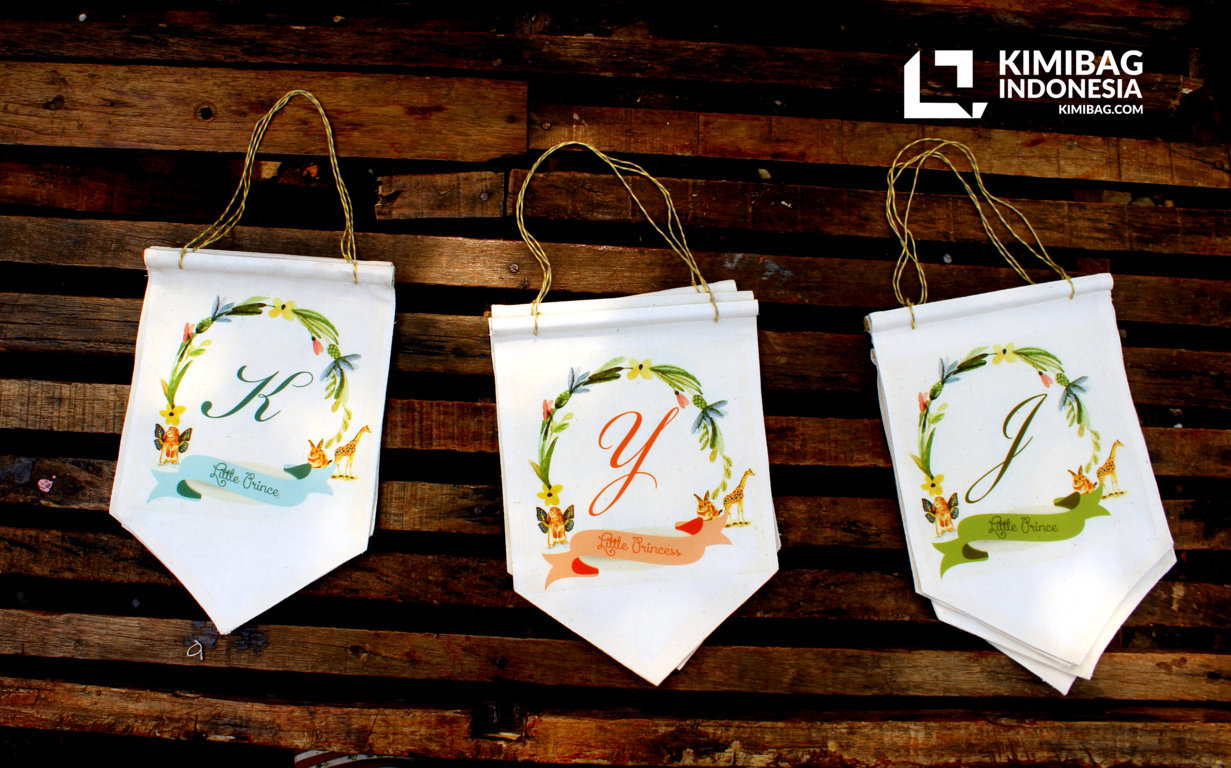 KIMIBAG INDONESIA - FLORAL DECORATIVE CANVAS FLAG 5 KIMIBAG INDONESIA