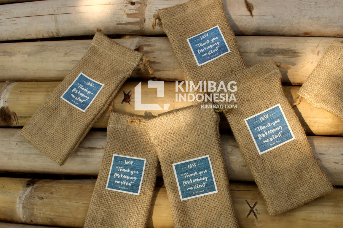 KIMIBAG INDONESIA - BURLAP IPHONE 7 POUCH