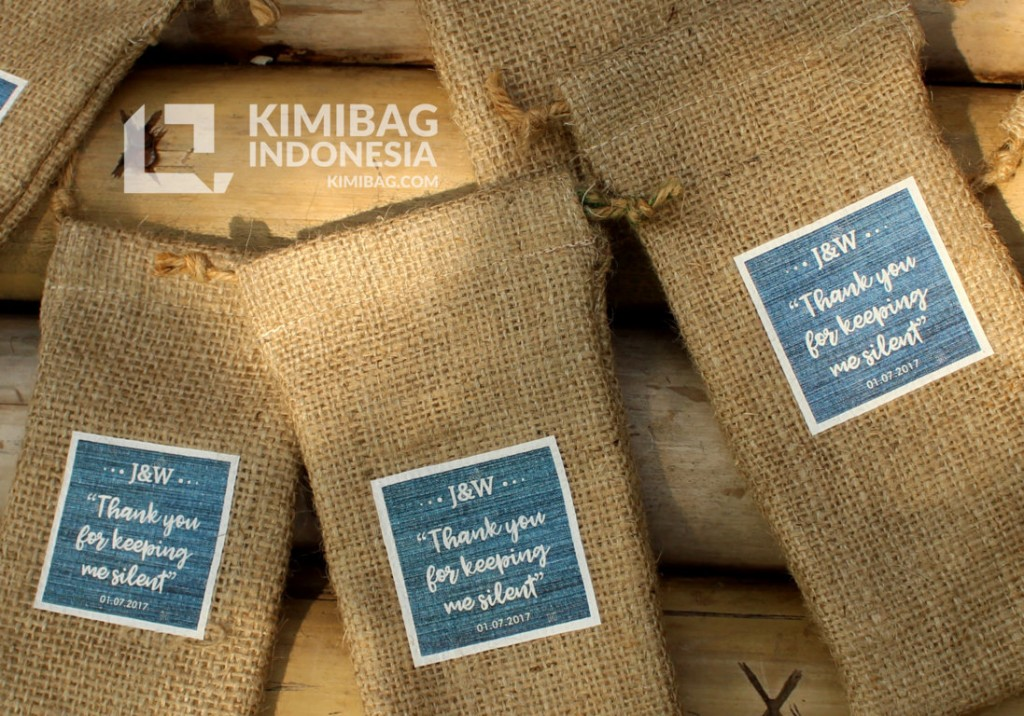 KIMIBAG INDONESIA - BURLAP IPHONE 7 POUCH 2c KIMIBAG INDONESIA