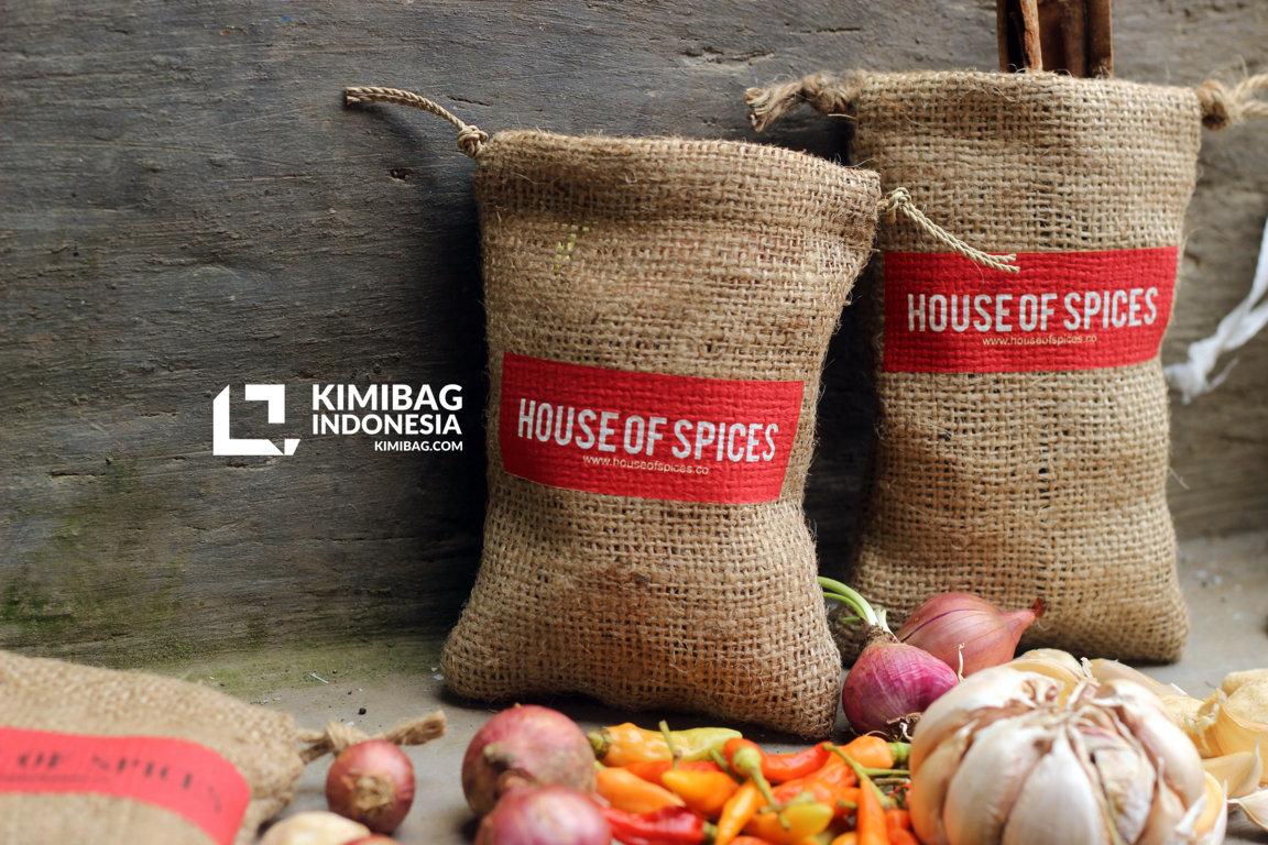 Burlap Natural Spices Pouch