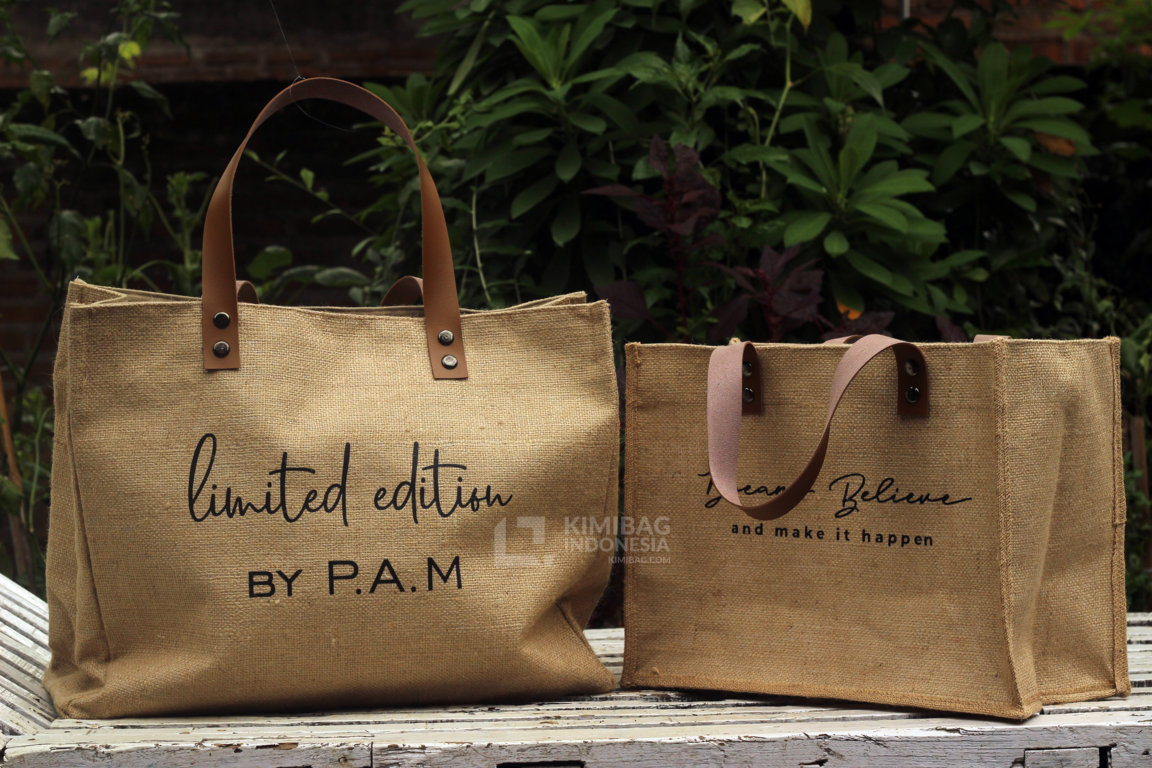 Personalized Burlap Bag